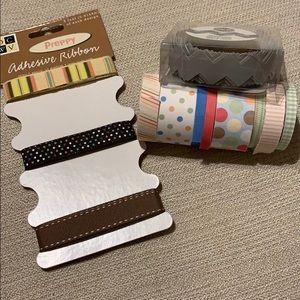 Washi Tape and Adhesive Ribbon Lot